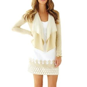{LILLY PULITZER} NWT COLONY DRAPED FRONT CARDIGAN
